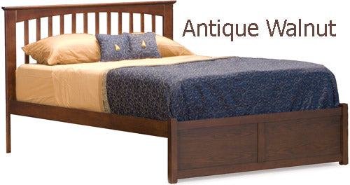 Brooklyn Platform Bed - Full w/ Flat Panel Footboard