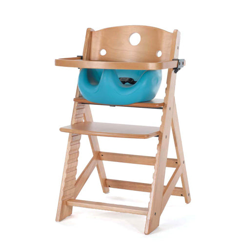 Keekaroo Height Right High Chair w/ Infant Insert & Wooden Tray-Natural