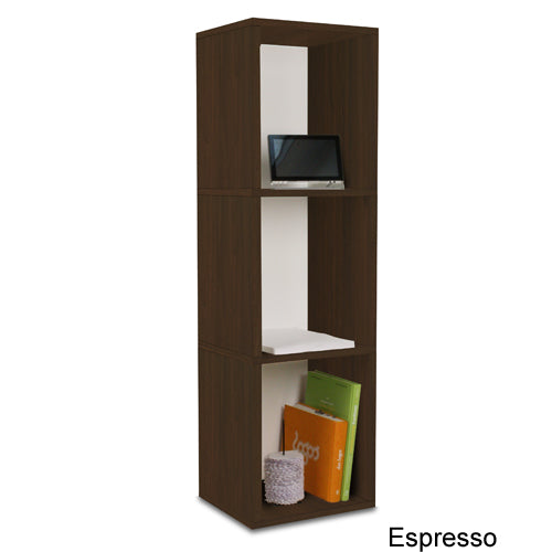 Way Basics Eco Friendly Three Shelf Cube Bookcase and Storage