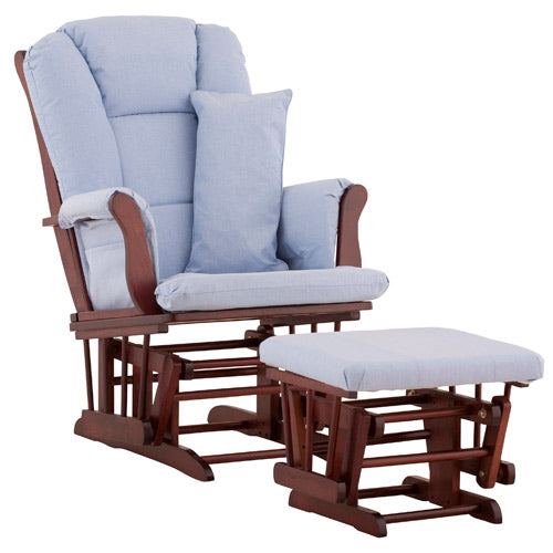 Tuscany Glider & Ottoman w/ Support Pillow - Cherry