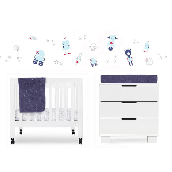 Galaxy 4-Piece Mini Crib Set