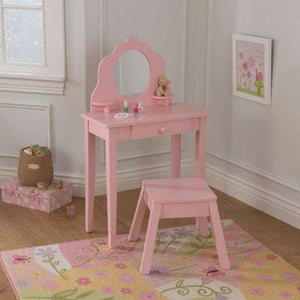 Medium Diva Table & Stool - Pink