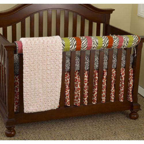 Here Kitty Kitty Front Crib Rail Cover Up Set