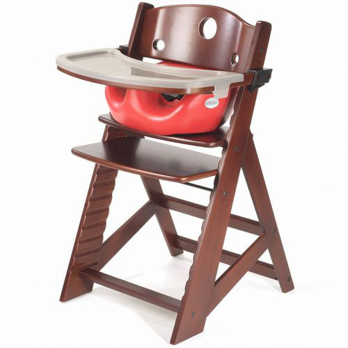 Keekaroo Height Right High Chair w/ Insert & Tray - Mahogany