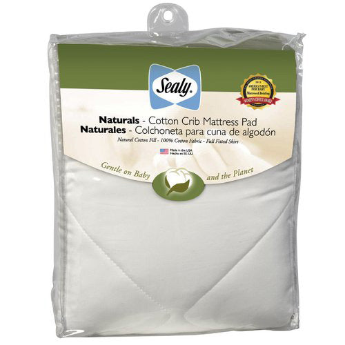 Sealy Quilted Naturals Cotton Mattress Pad