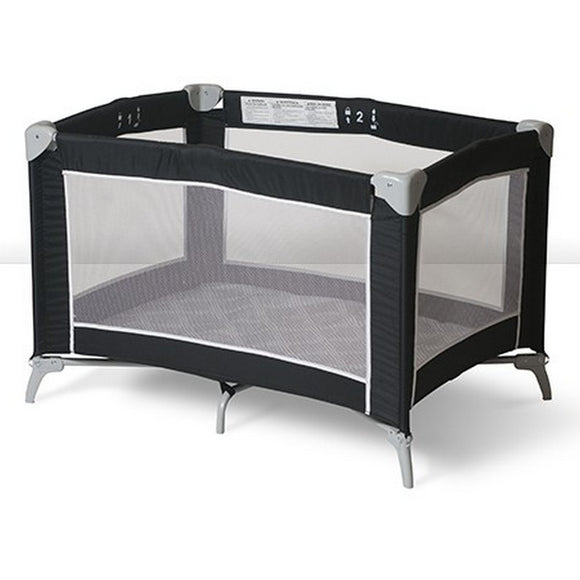 (Open Box) Sleep n Store Portable Crib - Black