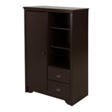 Fundy Tide Armoire with Drawers, Espresso