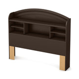 Morning Dew Full Bookcase Headboard (54''), Chocolate