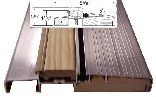 "**OUTSWING Threshold - 5 5/8"" Mill Style Finish"