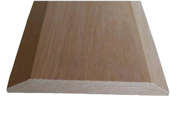 "Style A- RED OAK -3/4""  Height Solid Hardwood Interior Threshold -HBP"
