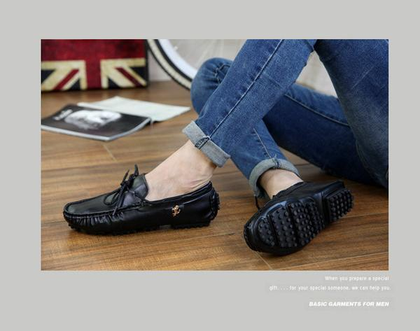 Men Faux Leather Loafers Shoes Driving Shoes With Stallion Details