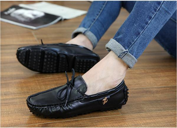379382fd75e Men Faux Leather Loafers Shoes Driving Shoes with Stallion Details ...