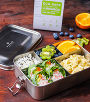 Ecozoi Stainless Steel Bento Lunch Box, 5 Compartment XL, Leak Proof