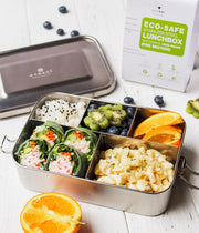 Stainless Steel Eco Lunch Box, Leak Proof, 5 Compartment, 50 Oz or 1500 ml