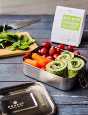 Stainless Steel Eco Lunch Box, Leak Proof, 3 Compartment, 35 Oz or 1000 ml [Plastic free]