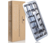 Ecozoi Stainless Steel Ice Cube Tray with Easy Release Handle [BPA free, plastic free, metal ice tray]