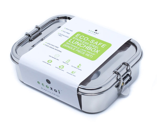Ecozoi Stainless Steel Bento Lunch Box - LEAK PROOF
