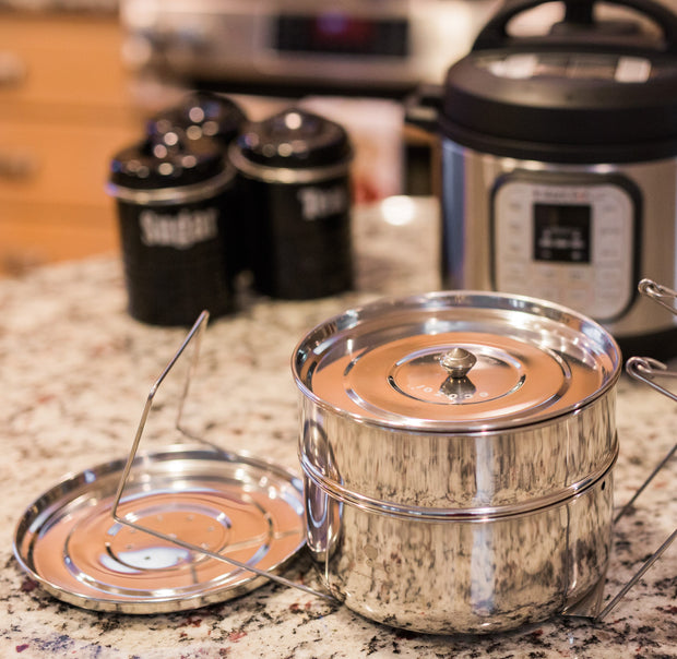 ecozoi inserts on a granite counter with an Instant Pot in the background.