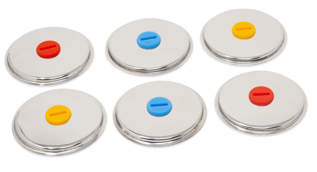 Lids for Round Popsicle Molds with Steel Sticks