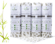 Bamboo kitchen Paper Towels, Reusable Unpaper Towels, 4 Pack, Extra Thick Rolls