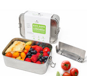 ecozoi Leak Proof Stainless Steel 1-Tier Extra Large Eco Lunch Box with Removable Divider
