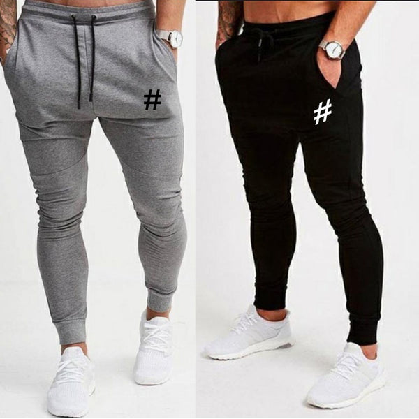 Mens Fashion Gym Outdoor Sweatpants Print Running Pants Tights Trousers