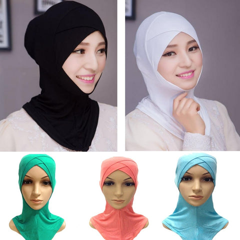 Muslim Cotton Full Cover Inner Hijab Caps Islamic Hats Islamic Underscarf Colors AIR