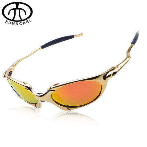 New Brand Design Cycling Sunglasses Outdoor Sport Polarizing Glasses Alloy Frame Cycling Glasses UV400 Mountain Bike Goggles Rid