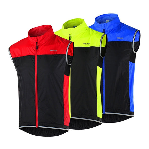 Windproof Sleeveless Cycling Jacket Outdoor Sports Clothing Bike Bicycle Vest Windbreaker