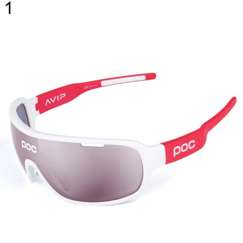 New Design Anti Glare Cycling Sports UV Eye Protection Windproof Glasses Goggles 5Lenses