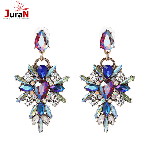 Colorful Flower Brand  Crystal Pendant