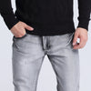 Mens black Grey blue Casual Jeans Slim Feet