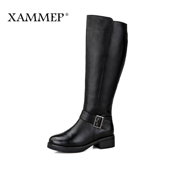 XAMMEP Brand Women Winter Shoes High Quality Knee