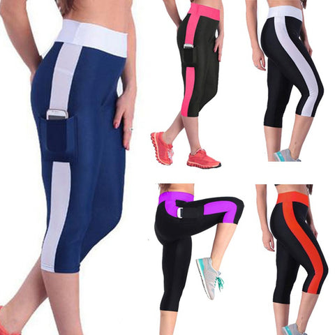 Women YOGA Running Pants High Waist Cropped Leggings Fitness Outdoor Fun & Sports pants