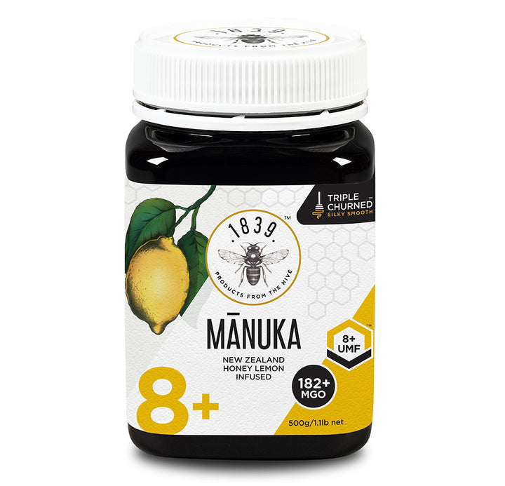 UMF 8+ Mānuka Honey with Lemon