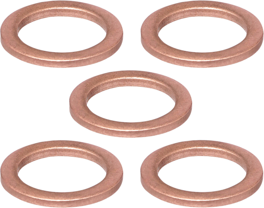 Copper Washer/Gasket for Mag Plug MP121522 Magnetic Oil Drain Plug and BMW Oil Drain Plugs (5-Pack)