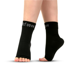 Foot Code Plantar Fasciitis Compression Foot Sleeves Turned