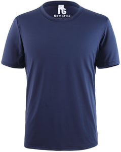 New Style Premium Moisture-Wicking All-Sport Short-Sleeve T-Shirt Front Blue