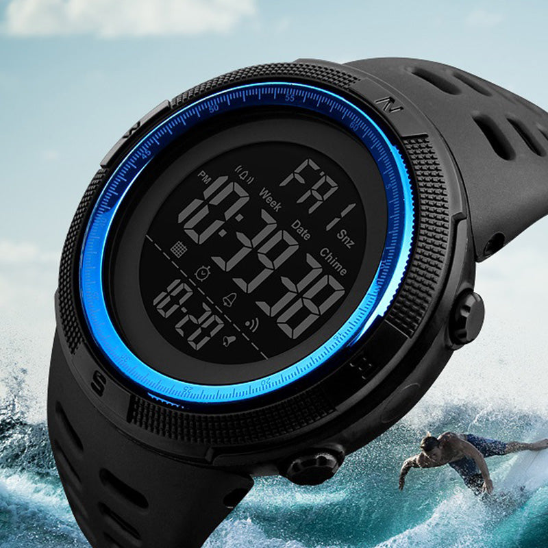 waterproof Sports Watch with Digital LED