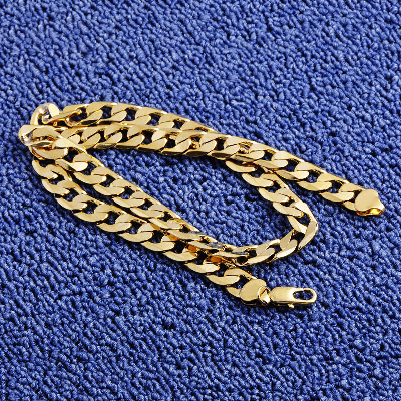 Gold Twisted Singapore Chain 24inch 7mm