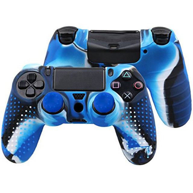 2 in 1 New Studded Anti-slip Silicone Skin Case for PS4 Controller