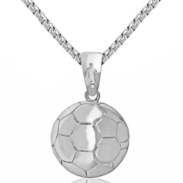 Basketball Pendant Necklace