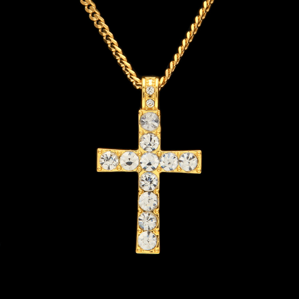 Iced out Cross