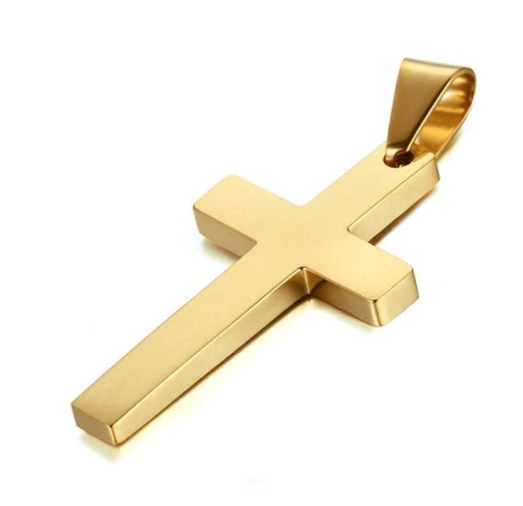 Minimal Cross Necklace (3 colors)