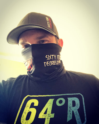 64 Degree Racing neck gaiter