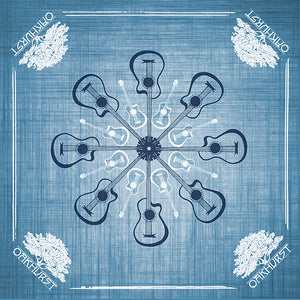 Acoustic Denim Blue Guitar Bandana - Available in 2 sizes