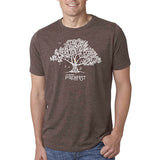 Men's Shirt Macchiato - Music in the Trees -Imprints white with Rainbow
