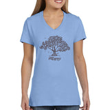 Bella Ladies Shirt Blue triblend  Music in the Trees - Brown Imprint