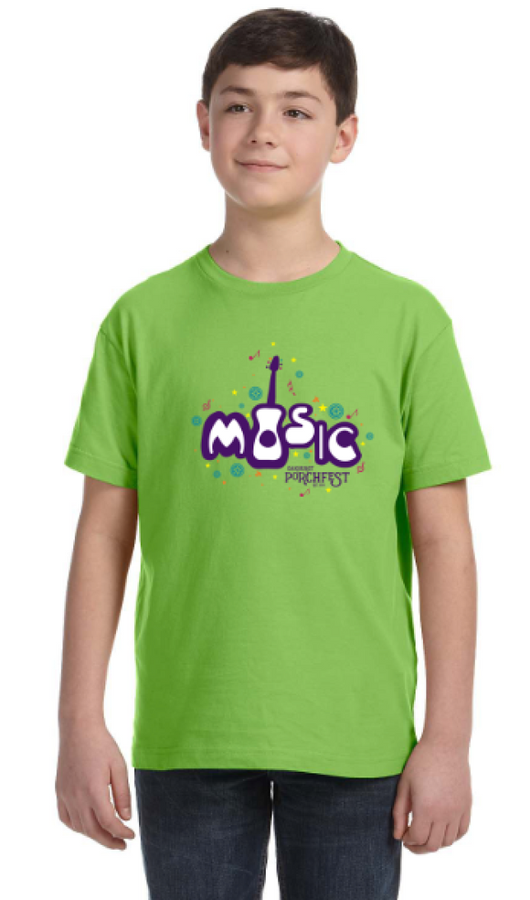 Kid's Shirt - Music  Lime