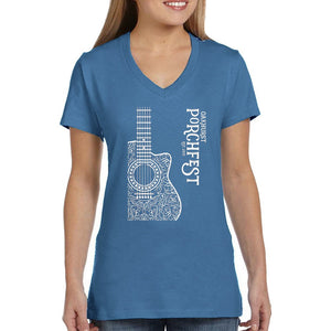 Womens Acoustic Guitar -Deep Royal Blue